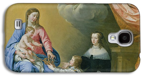 The Virgin Mary Gives The Crown And Sceptre To Louis Xiv, 1643  Galaxy S4 Case by Philippe de Champaigne