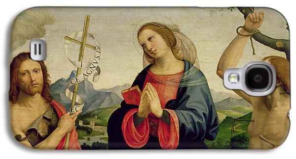 The Virgin With Saints Sebastian And John The Baptist Galaxy S4 Case by Timoteo Viti