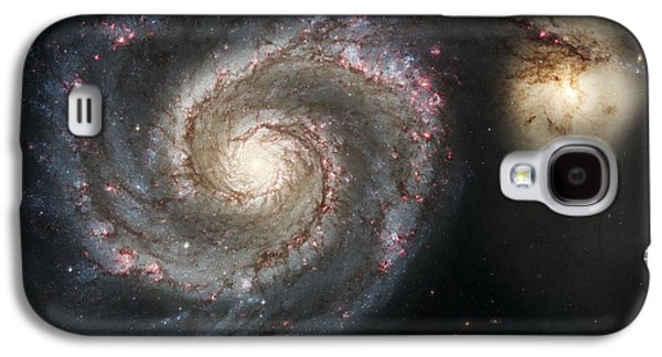 The Whirlpool Galaxy M51 And Companion Galaxy S4 Case