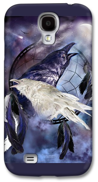 The White Raven Galaxy S4 Case by Carol Cavalaris