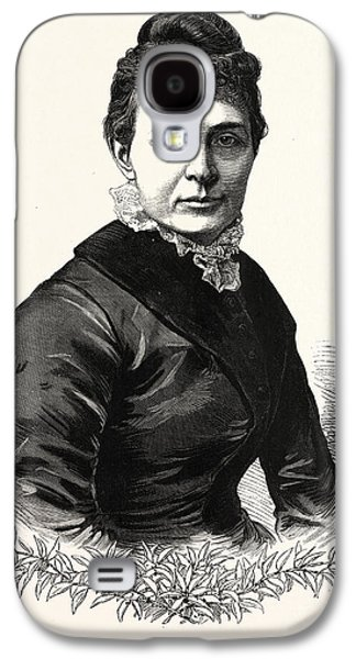 The Wife Of President-elect Garfield. Lucretia Galaxy S4 Case by American School
