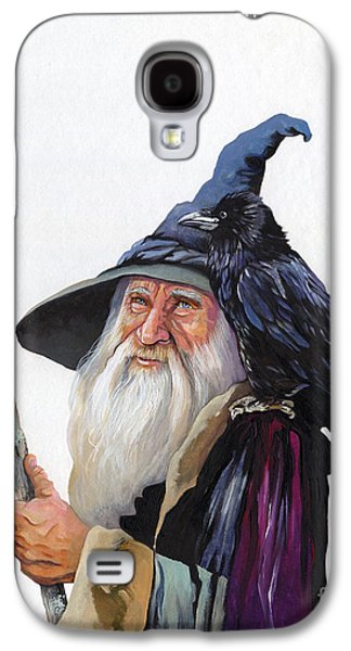 The Wizard And The Raven Galaxy S4 Case by J W Baker