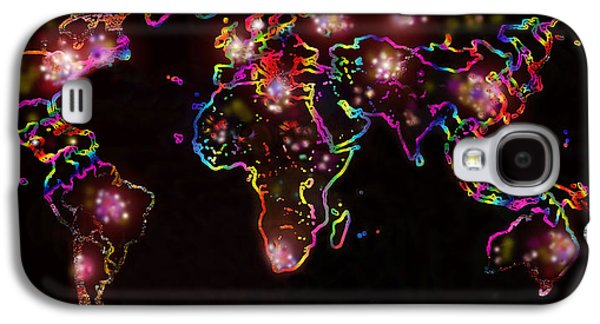 The World At Night  Galaxy S4 Case by Augusta Stylianou