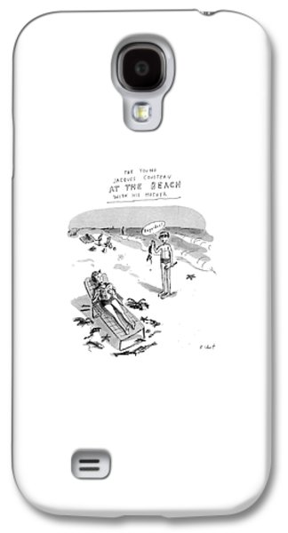 The Young Jacques Cousteau At The Beach Galaxy S4 Case by Roz Chast