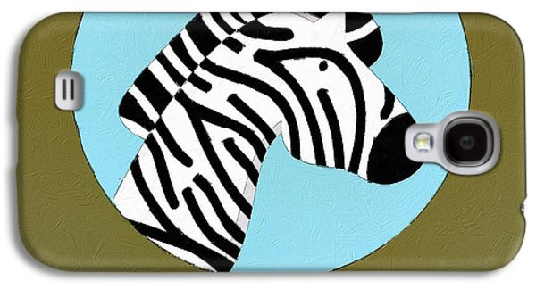 The Zebra Cute Portrait Galaxy S4 Case by Florian Rodarte