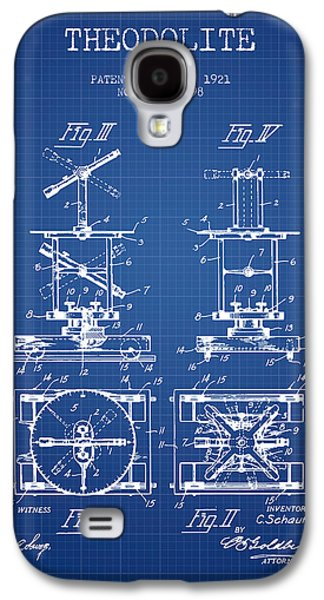 Theodolite Patent From 1921- Blueprint Galaxy S4 Case by Aged Pixel