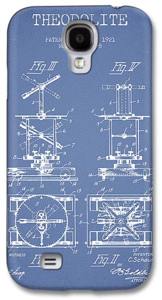 Theodolite Patent From 1921- Light Blue Galaxy S4 Case by Aged Pixel