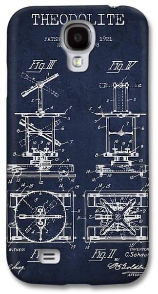 Theodolite Patent From 1921- Navy Blue Galaxy S4 Case by Aged Pixel