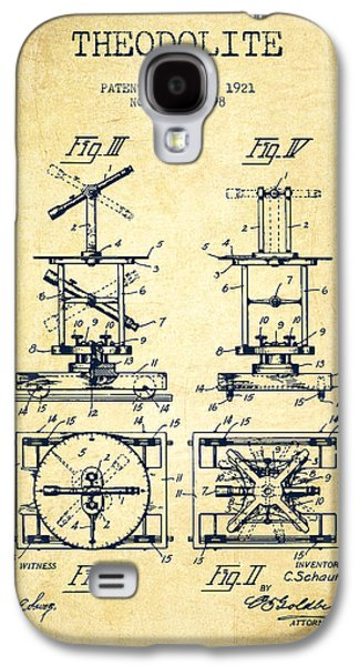 Theodolite Patent From 1921- Vintage Galaxy S4 Case by Aged Pixel