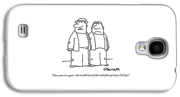 There, There It Is Again - The Invisible Hand  Of Galaxy S4 Case by Charles Barsotti