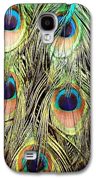 Colorful Galaxy S4 Case - Peacock Feathers by Blenda Studio