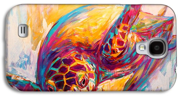 There's More Than Just Fish In The Sea - Sea Turtle Art Galaxy S4 Case by Savlen Art