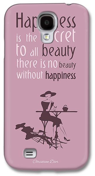 There's No Beauty Without Happiness Galaxy S4 Case by Gina Dsgn