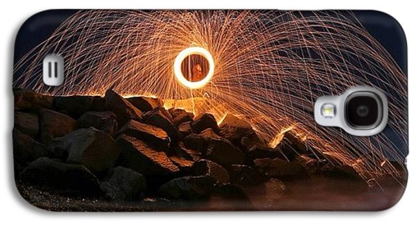 This Is A Shot Of Me Spinning Burning Galaxy S4 Case by Larry Marshall