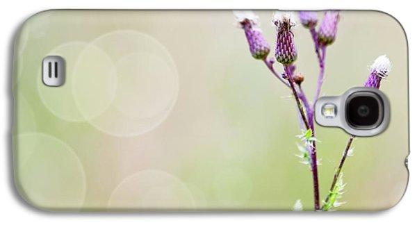 Thistle Flowers Galaxy S4 Case by Wladimir Bulgar