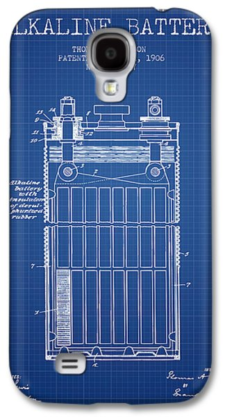 Thomas Edison Alkaline Battery From 1906 - Blueprint Galaxy S4 Case by Aged Pixel