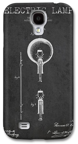 Thomas Edison Electric Lamp Patent From 1880 - Dark Galaxy S4 Case by Aged Pixel