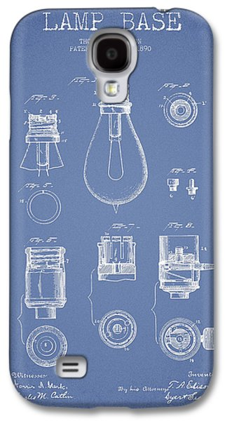 Thomas Edison Lamp Base Patent From 1890 - Light Blue Galaxy S4 Case by Aged Pixel