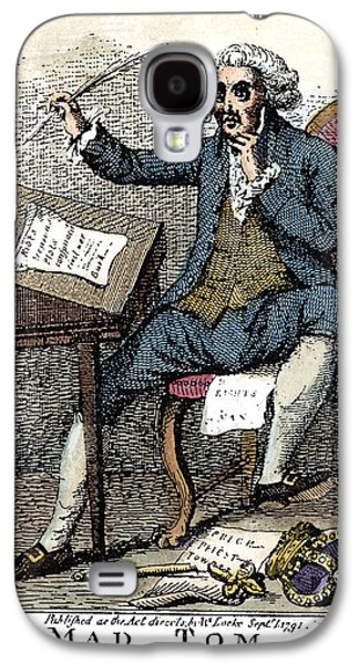 Thomas Paine Cartoon, 1791 Galaxy S4 Case by Granger