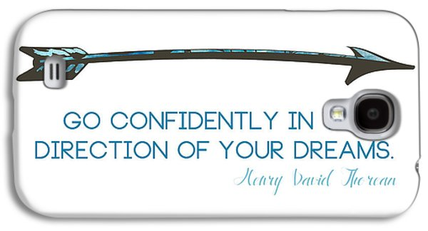 Thoreau Arrow Galaxy S4 Case by Nancy Ingersoll