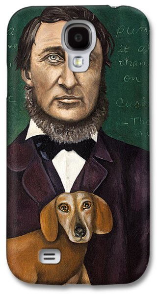 Thoreau With Louis Le Bref Galaxy S4 Case by Leah Saulnier The Painting Maniac