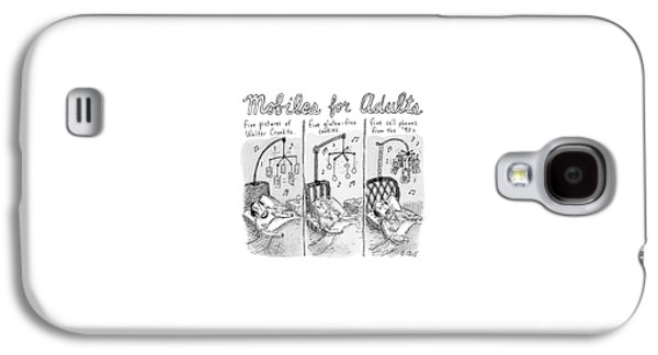 Three Adjacent Drawings Show Adults Lying In Bed Galaxy S4 Case