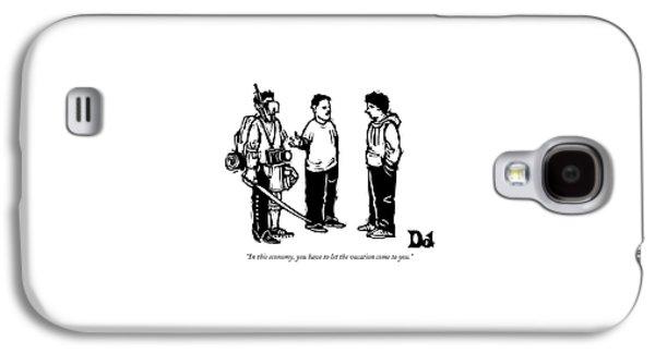 Three Boys Talking Galaxy S4 Case