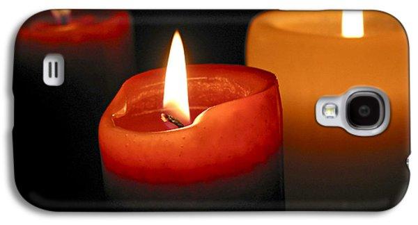 Three Burning Candles Galaxy S4 Case