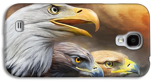 Three Eagles Galaxy S4 Case by Carol Cavalaris