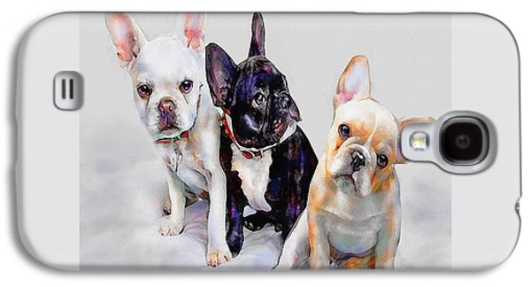 Three Frenchie Puppies Galaxy S4 Case