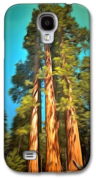 Three Giant Sequoias Digital Galaxy S4 Case