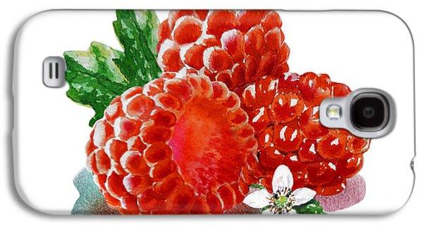 Three Happy Raspberries Galaxy S4 Case by Irina Sztukowski