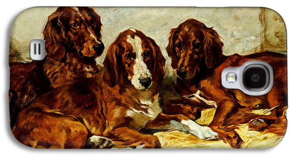 Three Irish Red Setters Galaxy S4 Case by John Emms