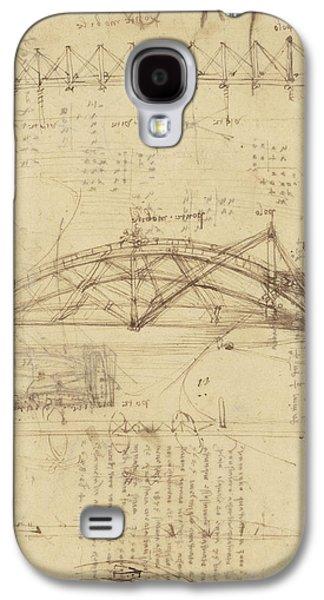 Three Kinds Of Movable Bridge Galaxy S4 Case by Leonardo Da Vinci