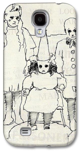 Three Little Clowns Galaxy S4 Case by H James Hoff