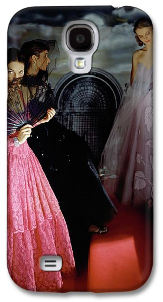 Three Models Wearing Ball Gowns Galaxy S4 Case by Horst P. Horst