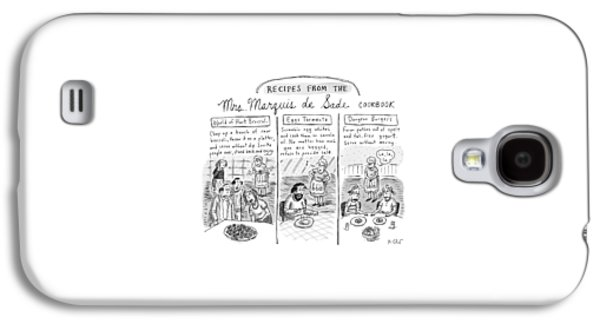 Three Panels Depict Recipes From Mrs. Marquis De Galaxy S4 Case