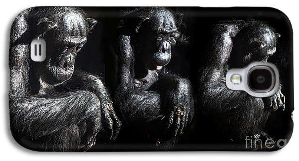 Three Pensive Chimps Galaxy S4 Case