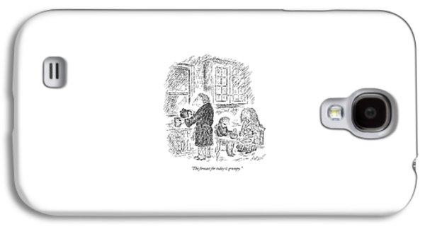 Three People Eat Breakfast In Their Kitchen Galaxy S4 Case by Edward Koren