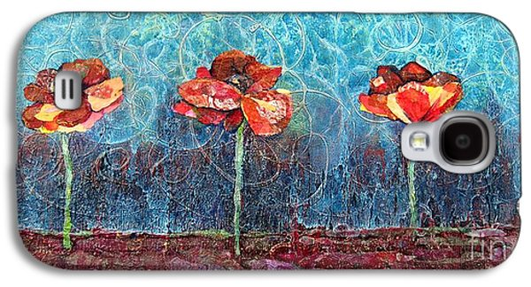 Three Poppies Galaxy S4 Case by Shadia Derbyshire