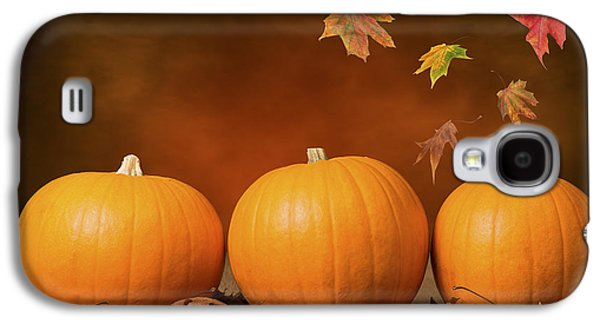 Vegetables Galaxy S4 Case - Three Pumpkins by Amanda Elwell
