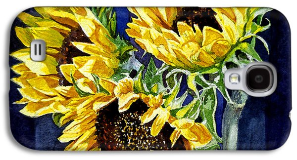 Three Sunny Flowers Galaxy S4 Case
