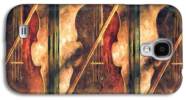 Three Violins Galaxy S4 Case by Bob Orsillo