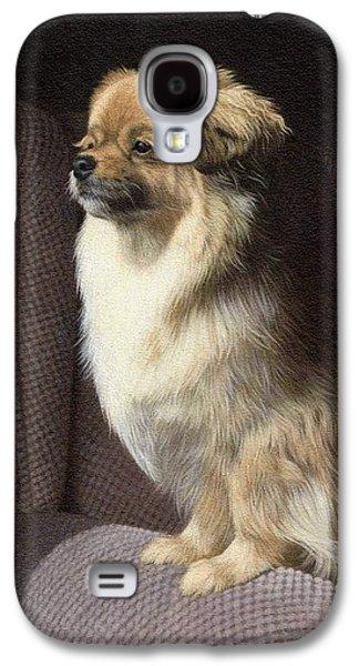 Tibetan Spaniel Painting Galaxy S4 Case by Rachel Stribbling