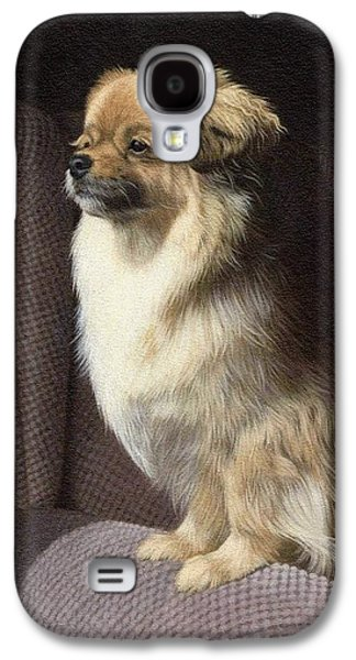 Tibetan Spaniel Painting Galaxy S4 Case by Rachel Stribbling