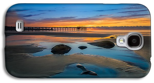 Tide Pool Reflections At Scripps Pier Galaxy S4 Case by Larry Marshall