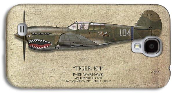 Tiger 104 P-40 Warhawk - Map Background Galaxy S4 Case by Craig Tinder