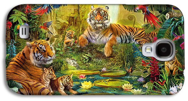 Tiger Family In The Jungle Galaxy S4 Case