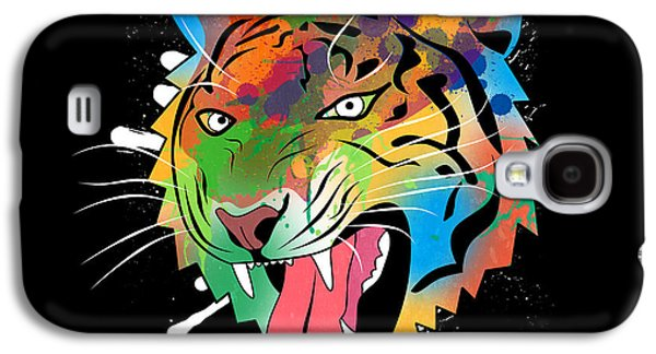 Tiger Vector  Galaxy S4 Case by Mark Ashkenazi