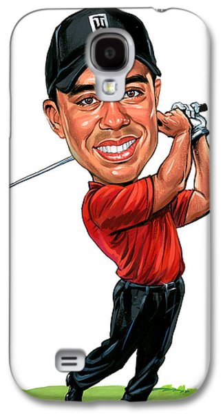 Tiger Woods Galaxy S4 Case by Art